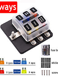 cheap -Screw Terminal Type Automobile General Refitting Fuse Box Seat Fuse Insert 6ways