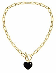 cheap -gold chain choker necklace, 14k gold plated fashion designer chunky chain necklace for women