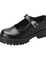 cheap -Women's Lolita Shoes Platform Round Toe Casual Daily Walking Shoes PU Black