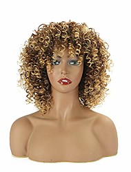 """cheap -afro wig short curly with bangs fluffy wigs synthetic afro kinky full wig heat resistant for african american women (8"""" color:t33/27)"""
