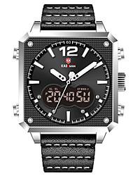 cheap -KADEMAN Men's Sport Watch Analog - Digital Digital Tonneau Casual Water Resistant / Waterproof Calendar / date / day Stopwatch / Two Years / Leather