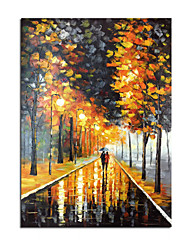 cheap -100% Hand-Painted Contemporary Art Oil Painting On Canvas Modern Paintings Home Interior Decor Abstract Art   Street Landscape Painting Large Canvas Art(Rolled Canvas without Frame)