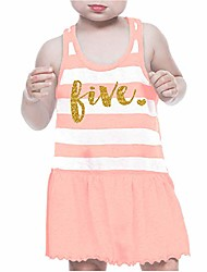 cheap -fifth birthday outfit girl five year old 5th birthday summer dress pink
