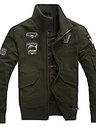 cheap -men's stand collar military air force lightweight cotton jackets (x-small, b black)
