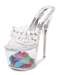 cheap -Women's Dance Shoes Pole Dancing Shoes Heel Slim High Heel Rainbow White Loafer Adults'