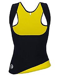 cheap -women's hot sweat slimming neoprene vest body shaper for weight loss waist trainer sauna suits black