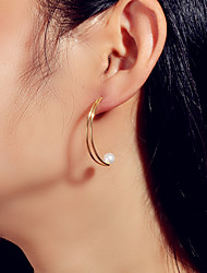 cheap -Women's Stud Earrings Geometrical Fashion Imitation Pearl Earrings Jewelry Gold For