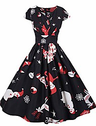 cheap -christmas dress for girls xmas dresses for women casual summer autumn winter vintage (black-1, s)