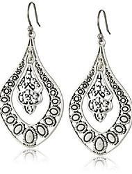 cheap -lucky brand silver filigree oblong earrings