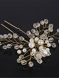 cheap -Crystal / Alloy Headpiece / Hair Pin with Crystal 1 Piece Wedding Headpiece