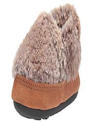 cheap -unisex-kid's moc slipper, brown berber, 12-13 standard us width us little kid