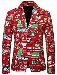 cheap -houshelp men's suit jacket two button slim fit sport coat business daily blazer christmas jacket classic coat red