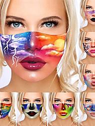 cheap -2 pcs 3D Digital Printing Masks Dustproof And Washable Masks Sunscreen And Anti-haze Printing Masks