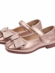 cheap -girls glitter bowknot mary jane flats kids party school princess dress shoes golden size 28