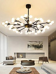 cheap -113 cm LED Chandelier Nordic Black Gold Globle Design Metal Painted Finishes Modern 110-120V 220-240V