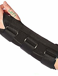 cheap -wrist brace stabilizer support brace with aluminum splint for carpal tunnel arthritis, adjustable arm compression hand support for injuries, wrist pain, sprain, sports - single (left, large)