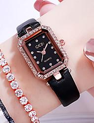cheap -Women's Quartz Watches Analog Quartz Modern Style Stylish Elegant Casual Watch Imitation Diamond / One Year / Genuine Leather / Japanese