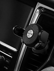 cheap -Remax RM-C32 Car Cell Phone Holder Gravity-Clamping Car Air Vent Mount Holder Cradle For iPhone Samsung Galaxy LG All Smartphone Carbon Fiber Pattern 360 Black 1PCS