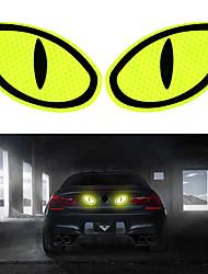 cheap -FORAUTO 2PCS Car Reflective Sticker Warning Tape Eye Shape Reflective Strips Safety Mark Protective Door Bump Sticker