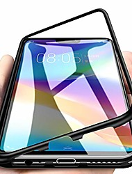 cheap -eabhulie xiaomi mi 8 lite case, hybrid 2 in 1 transparent tempered glass hard back metal bumper magnetic adsorption case cover for xiaomi mi 8 lite black