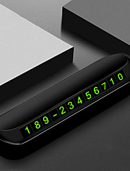 cheap -Temporary Car Parking Card with Aromatherapy Telephone Number Card Night Light Car Styling Phone Number Card Hidden Number Plate
