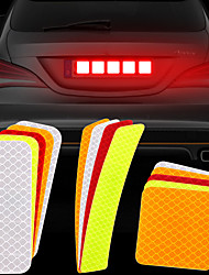 cheap -2pcs Warning Mark Car Reflective Tape Door Bumper Stickers Strip Safety Light Reflector Auto Safety Universal Car Accessories