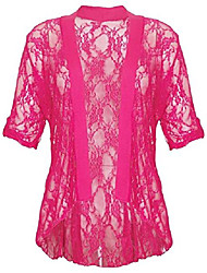 cheap -ladies plus size cerise lace knit diamonte 3/4 sleeve cardigan top shrug - 24/26
