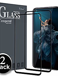 cheap -screen protector for honor 20 / honor 20 pro screen protector, [2 pack] [full glue] screen protector tempered glass case friendly protective film (black)