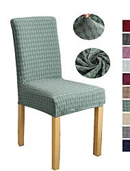 cheap -Solid Color Thickened Jacquard Chair Cover Elastic Elastic Family Hotel Banquet Table Chair Cover 1 Piece