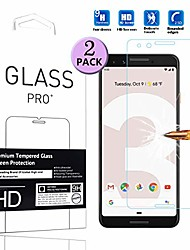 "cheap -compatible with google pixel 3 tempered glass screen protector - [2 pack] smartphone protective film for google pixel 3 5.4"" 2018"