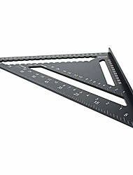 cheap -12inch triangular protractor aluminum speed square triangle angle protractor miter framing measuring tool for woodworking black 1pcs