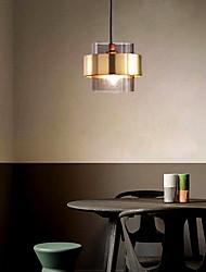 cheap -1-Light 18 cm Pendant Light Metal Glass Modern 110-120V / 220-240V
