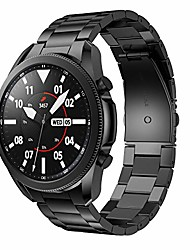 cheap -metal bands compatible with galaxy watch 3 45mm bands, solid stainless steel watch bands replacement metal strap for galaxy watch 3 45mm smart watch - black