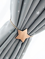 cheap -Metal curtain magnetic buckle with curtain buckle creative punch - free five-pointed star curtain tie