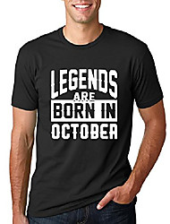 cheap -legends are born in october | white design | mens tee graphic t-shirt, black, x-large