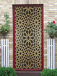 "cheap -2pcs Self-adhesive Creative Golden Mandala Door Stickers For Living Room Diy Decoration Home Waterproof Wall Stickers 30.3""x78.7""(77x200cm), 2 PCS Set"