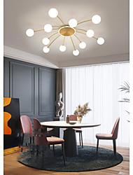 cheap -6/8/12/16 Heads LED Ceiling Light Gold Nordic Globle Sputnik Design Bloom Glass Flush Mount Lights Metal Electroplated LED 110-120V 220-240V