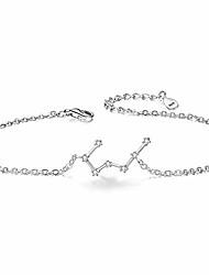 cheap -925 sterling silver bracelet -taurus constellation zodiac 12 horoscope astrology women cz link bracelet clear april birthstone