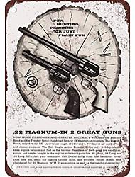 cheap -new tin sign 1959 colt .22 magnum pistols vintage look reproduction aluminum metal sign 8x12 inch