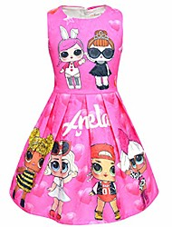 cheap -Kid's Child's Kids Child Cartoon Image Dress Pink