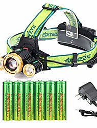 cheap -3 cree 18650 rechargeable headlamp adjustable waterproof led zoomable brightest headlamp with 6pc 18650 batteries and charger headlamps for camping running outdoor activities
