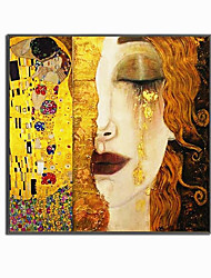 cheap -World Famous Painting Series 100% Hand Painted High Quality Oil Painting on Canvas Golden Tears by Gustav Klimt Painting for Bedroom Decoration Christmas Gift
