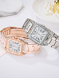 cheap -Women's Bracelet Watch Steel Band Watches Analog Quartz Stylish Luxury Casual Watch Imitation Diamond