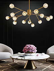 cheap -100 cm Glod Chandelier Sputnik Design Pendant Light Nordic Style Artistic Industrial Painted Finishes 110-120V 220-240V