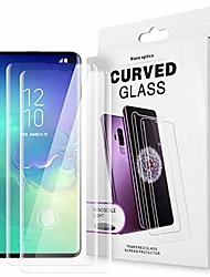 cheap -2 Pack Tempered-glass Film For Samsung Galaxy S21Ultra S20fe S21 PLUS S20 S10 lite Military Protective Case Friendly Anti-Fingerprint Anti-Scratch no-Bubble Easy Installation For S20plus S10e S9 PLUS