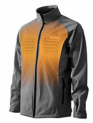 cheap -sahara men's heated jacket - 10 hrs of heat | 3 heat zones | with battery & charger | machine washable | all day warmth steel