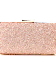 cheap -Women's Bags Polyester Alloy Evening Bag Glitter Solid Color Glitter Shine Fashion Party Wedding Wedding Bags Handbags Black Red Champagne Gold