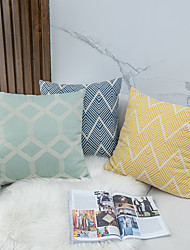 cheap -Solid Color Jacquard Geometry 1 Pc Decorative Throw Pillow Cover Pillowcase Cushion Cover for Bed Couch Sofa