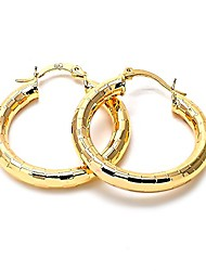 cheap -1stunning 14k gold plated women hoop earrings, 4 mm. 20 mm to 80 mm (30 mm)