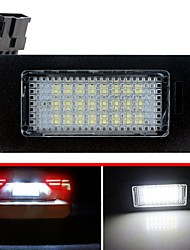 cheap -2Pcs LED License Plate Lights SMD3528 6500K 24SMD Number Plate Light for Audi A4 S4 A5 S5 Q5 TT TT-RS for VW Passat 5D R36
